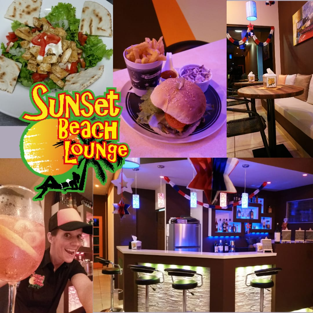 Sunset Beach Lounge food Las lajas