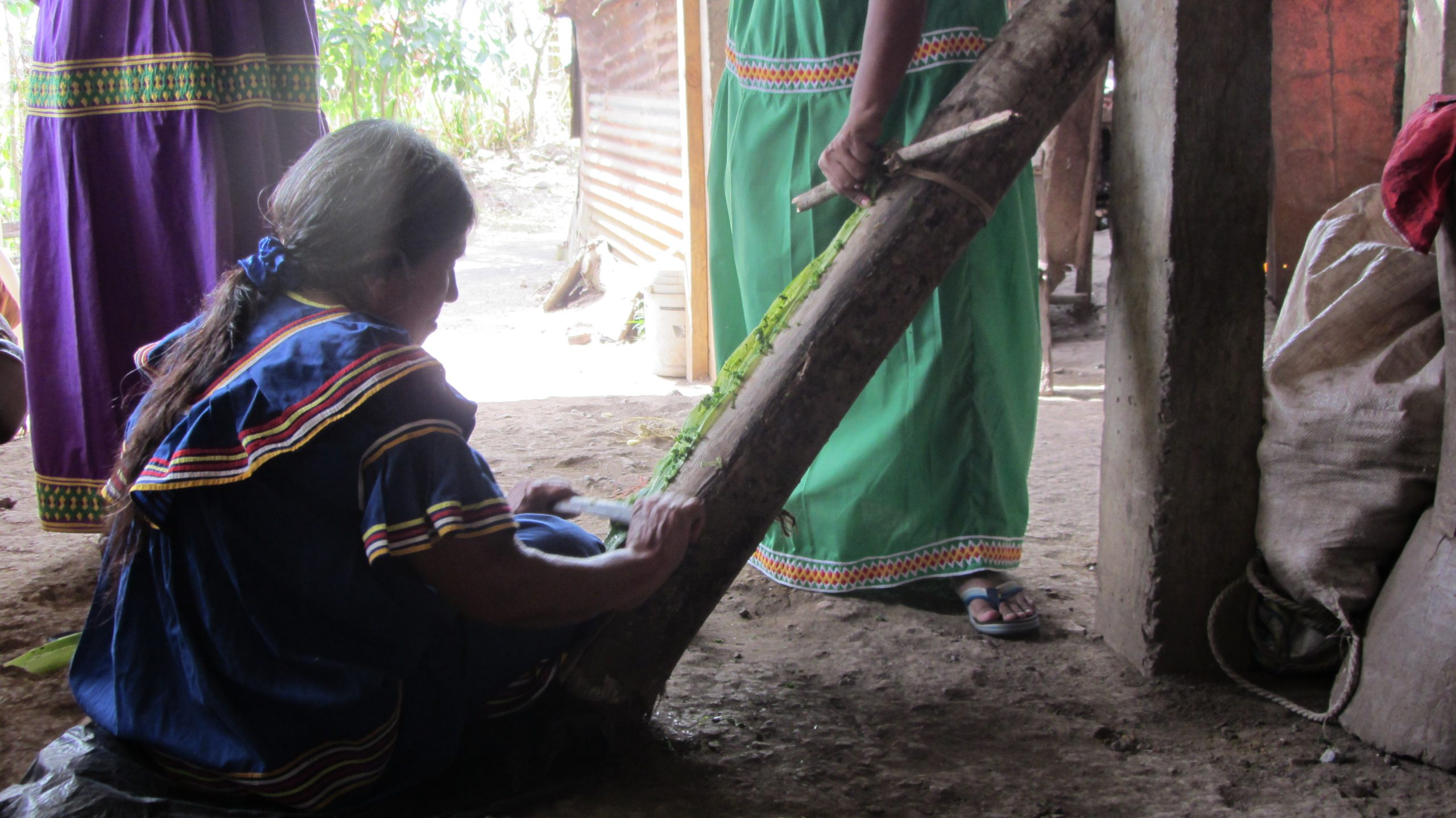 Ngöbe-Buglé woman at work