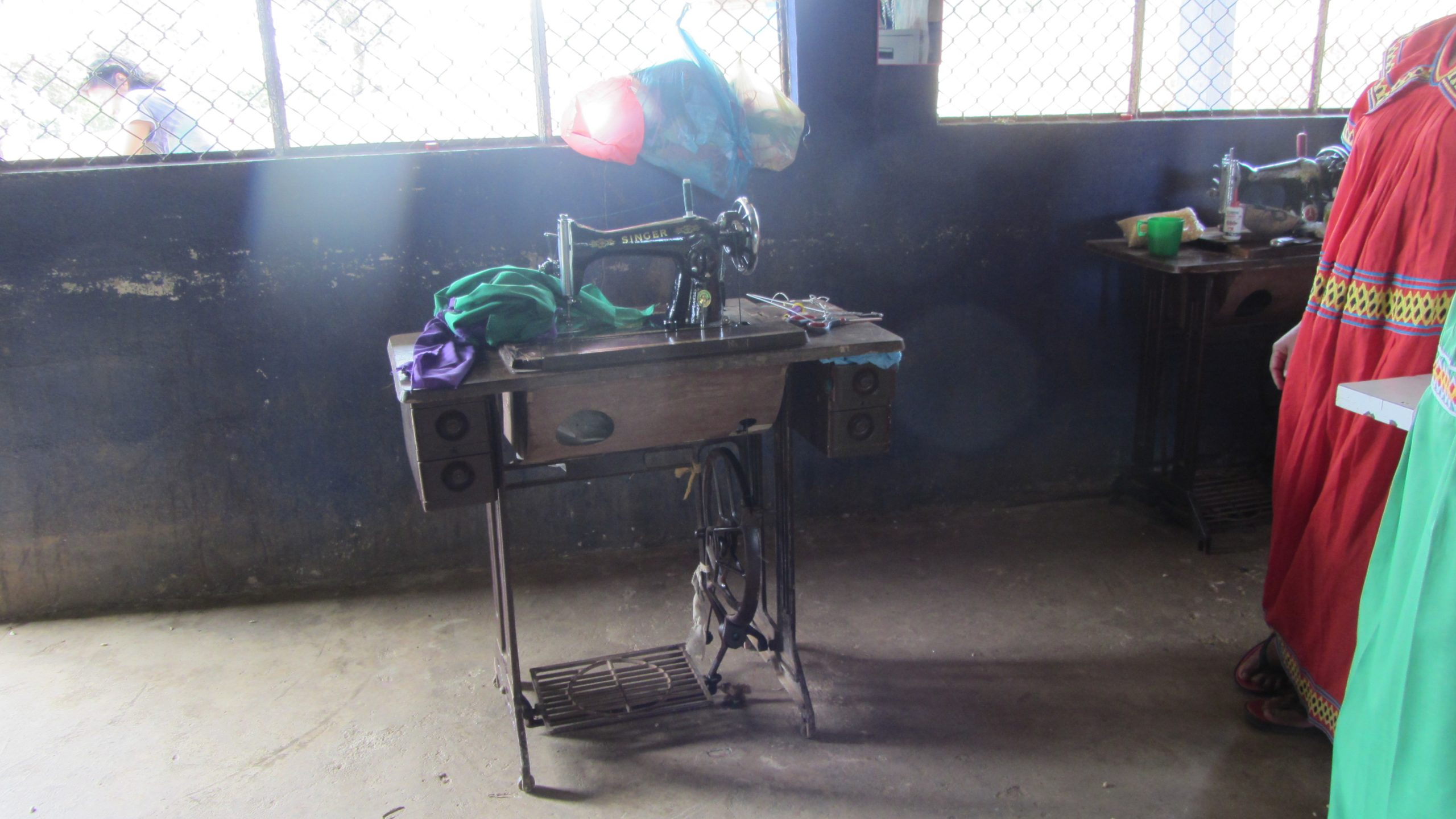 Sew machine in the Ngobe region