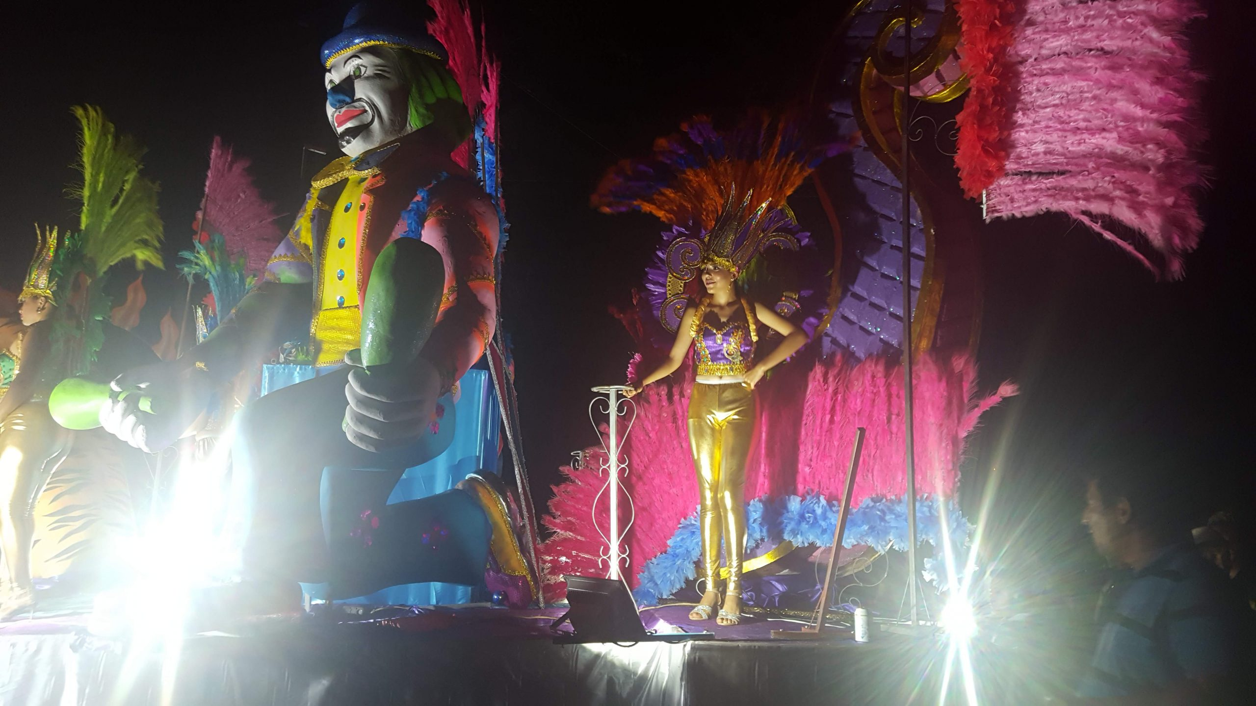 Float and queen at Las Lajas carnival